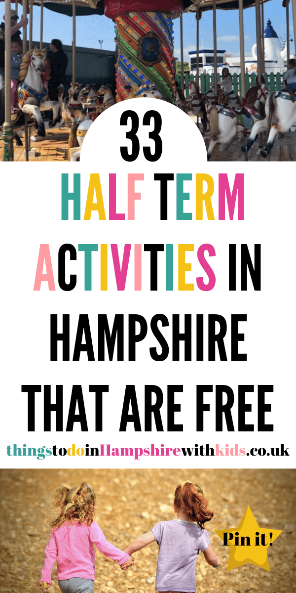 Here are 33 half term activities in Hampshire that are free for kids. Go along and enjoy these free days out in Hampshire. How many have you visited by Laura at Things To Do In Hampshire With Kids #HalfTermActivites #HalfTermIdeas #ThingstoDoWithKids