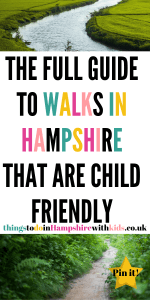 The full guide to fun walks in Hampshire that are great for the whole family. Bring your bikes and scooters along these paths while enjoying the wildlife by Laura at Things To Do In Hampshire With Kids #ThingstoDo #Hampshire #WalksInEngland