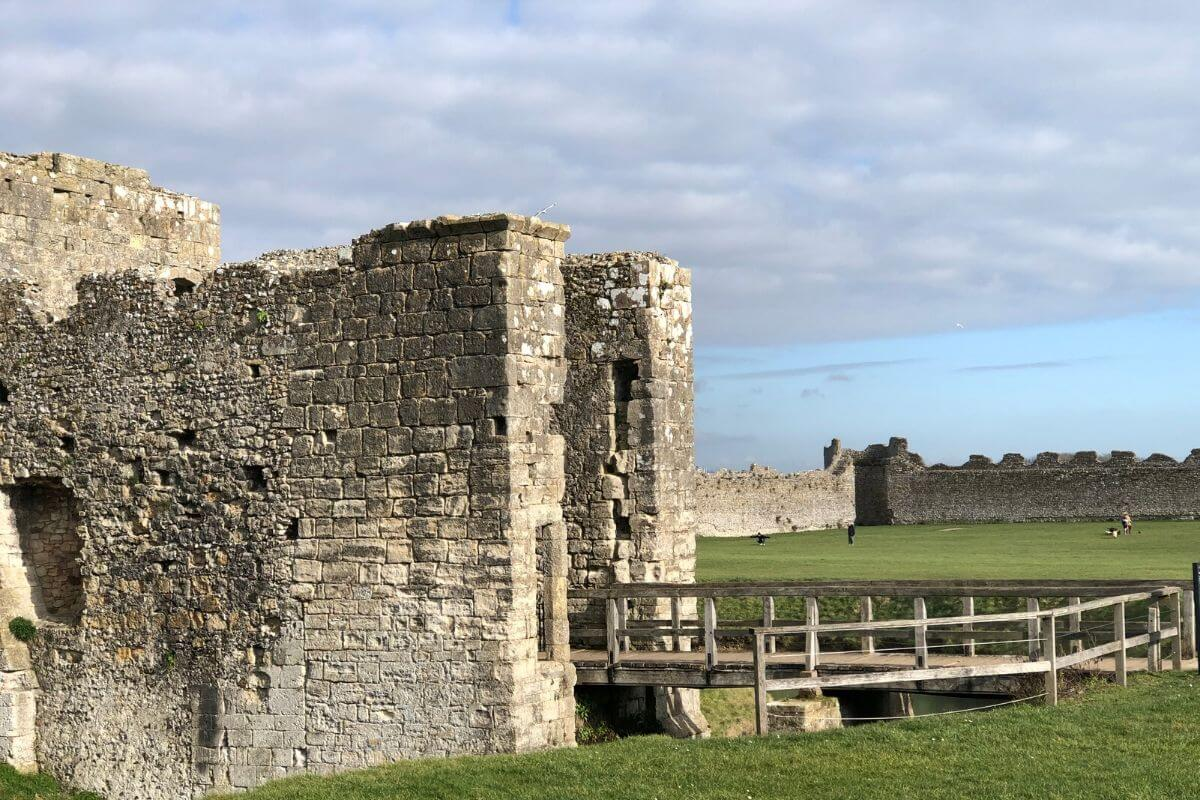 Porchester Castle in Portsmouth