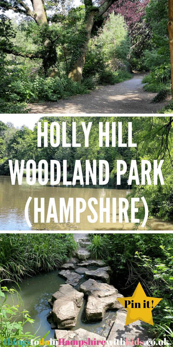 Holly Hill Woodland Park is a great place to visit for the whole family. It has a huge lake, stepping stones, picnic benches and is free to enter all year round by Laura at thingstodoinHampshirewithkids.co.uk