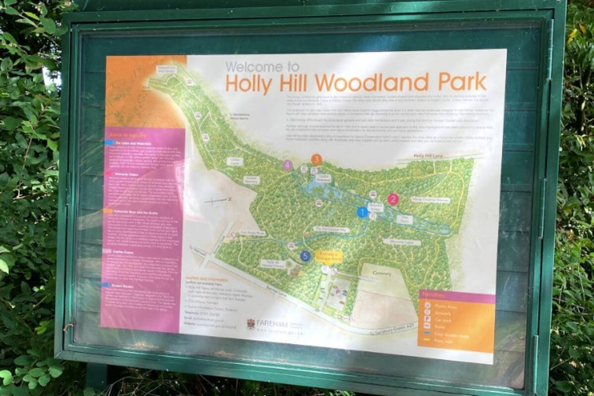 Holly Hill map in large frame