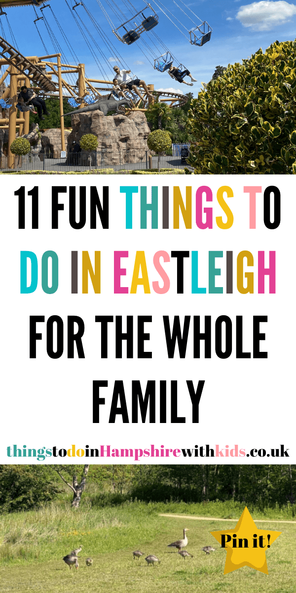 Here are 11 fun things to do in Eastleigh that are great for the whole family. Visit one of the many country parks or one of the days out ideas by Laura at Things to do in Hampshire With Kids