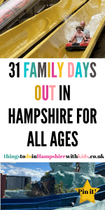 Here are 31 family days out in Hampshire that are perfect for all ages. There's parks for the smaller ones and zoos or theme parks for the bigger ones by Laura at ThingstodoinHampshirewithkids.co.uk