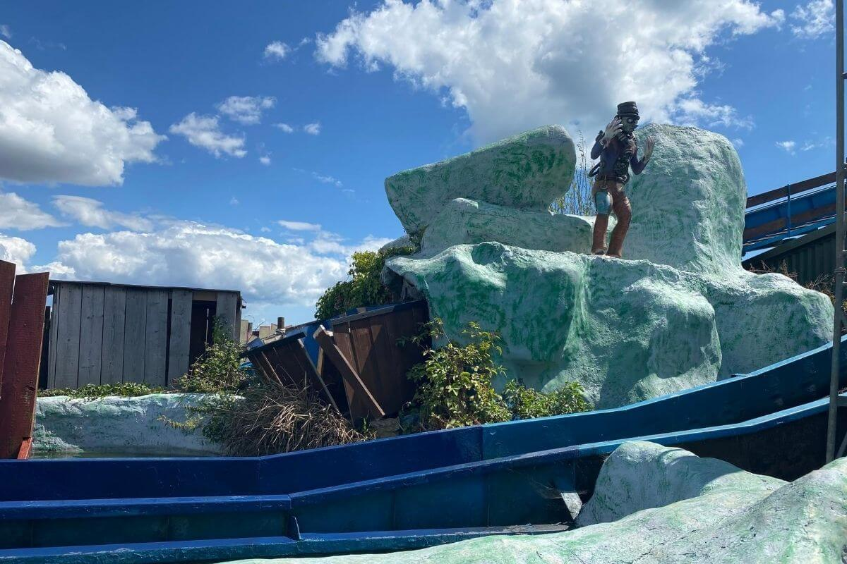 Hayling Island Funfair log flume