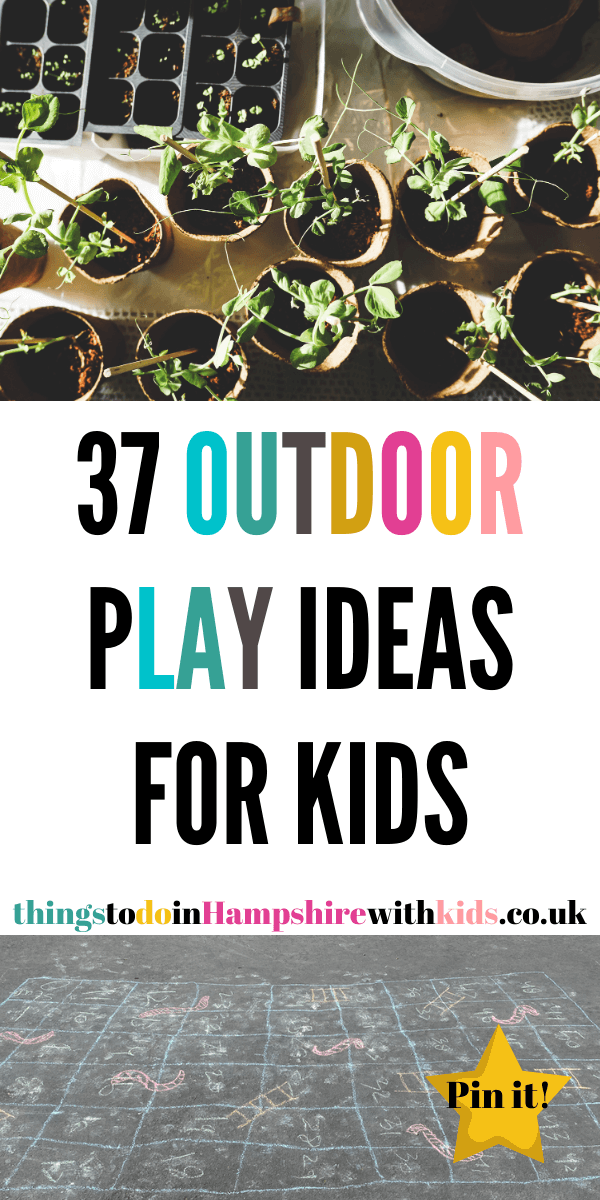 Here are 37 outdoor play ideas for kids that are perfect regardless of if you have a garden or not. Explore the outside world with out things to do ideas by Laura at Things to do in Hampshire with kids