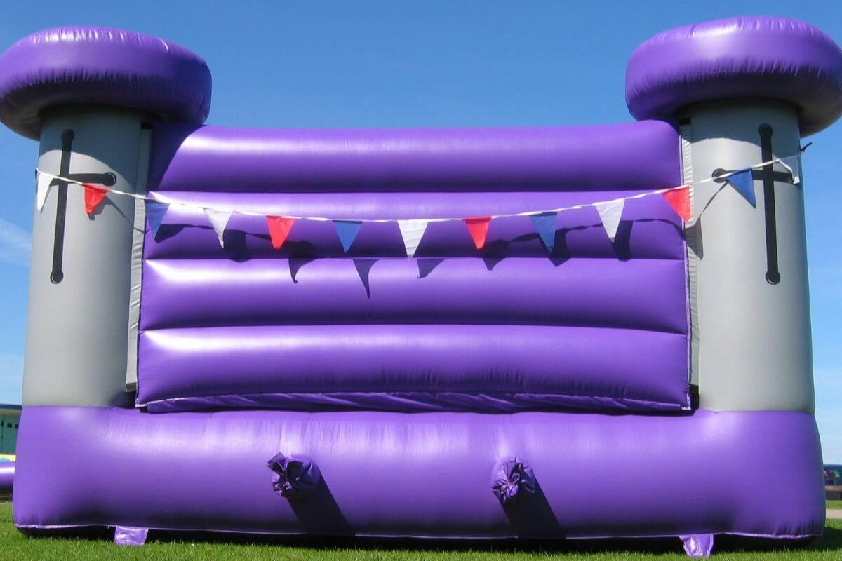 Purple bouncy castle