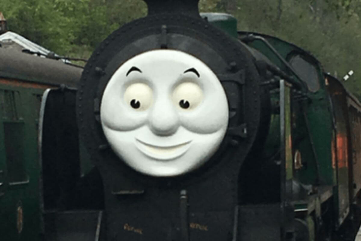 Day out with Thomas, Watercress Line. Percy train