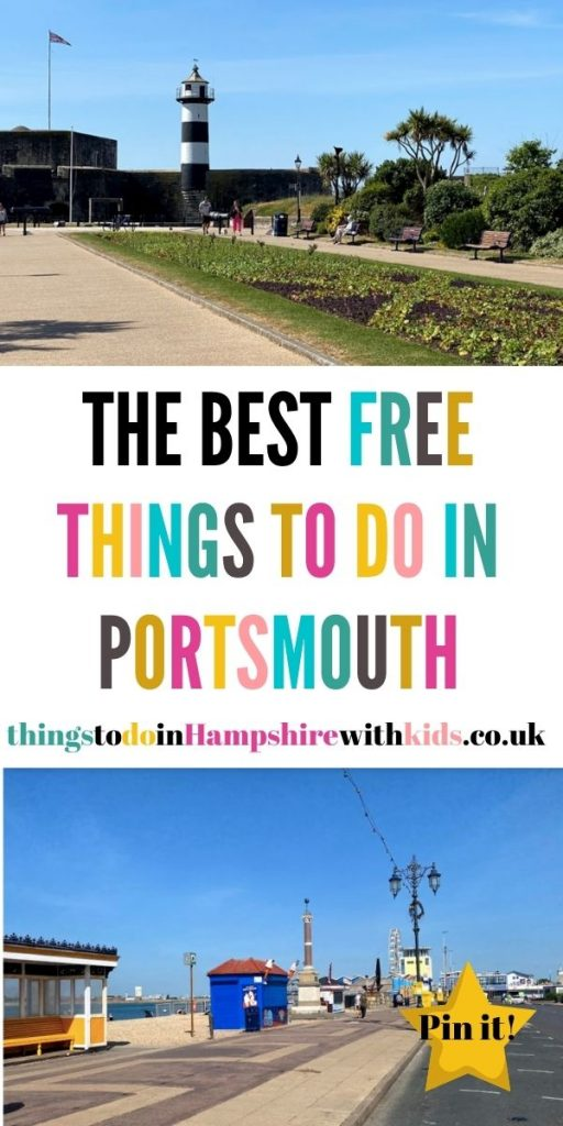 This is the best list of free things to do in Portsmouth with kids. We've included everything from bike rides to free museums by Laura at Things To Do In Hampshire With Kids