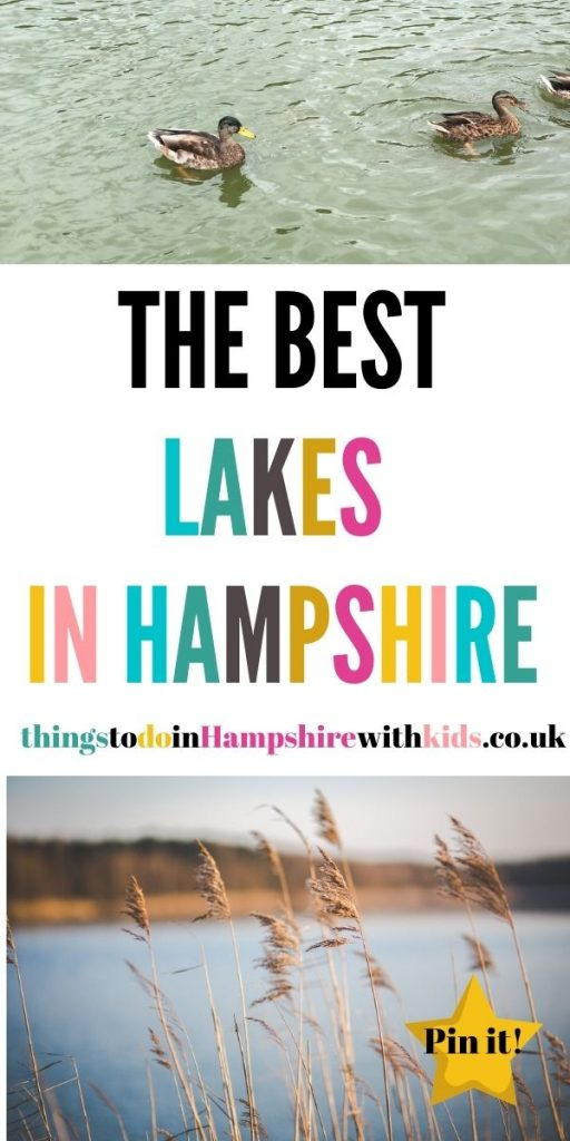 These are the best lakes in Hampshire that are family-friendly and fun to visit all year around whatever the weather by Laura at Things To Do In Hampshire With Kids