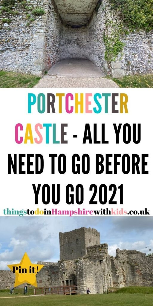 Portchester castle is a great day out in Hampshire. It's free to visit and a fun day out for the whole family by Laura at Things to do in Hampshire with kids