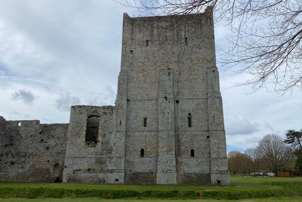 Front of Portchester Castle