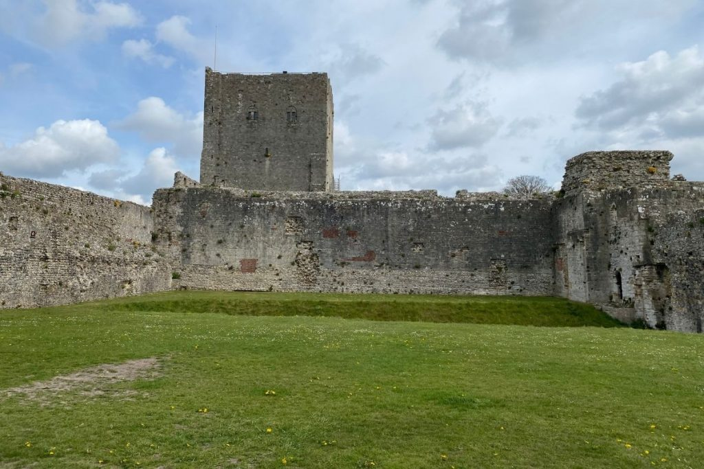 Middle of Portchester Castle