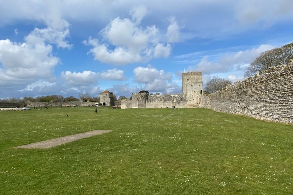 Looking into Portchester Castle